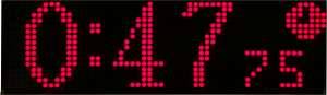 Display with multi-colored text and graphics: timer.