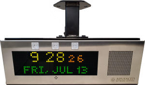 Double-Sided IP Display with Universal Mount (IPCDS-RWB-U) Front View