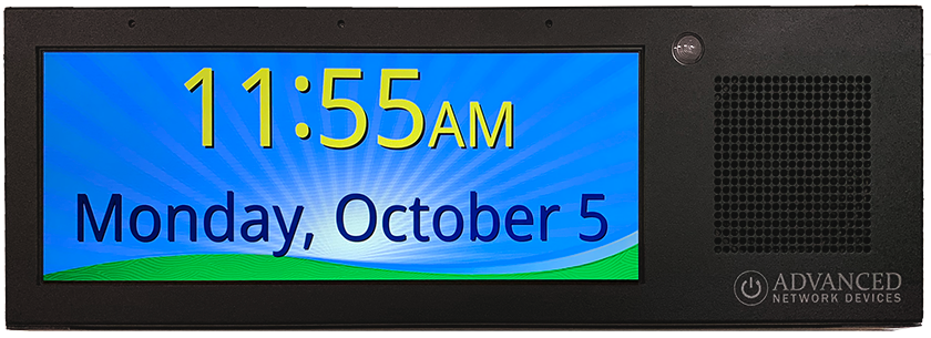 IP display with high-resolution, full-color LCD screen, speaker, and flasher, and a steel face with a matte black finish